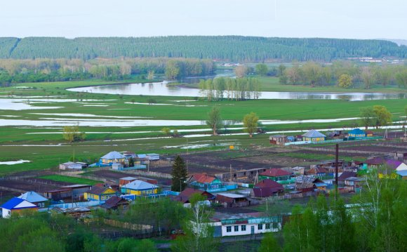 Панорама башкирской деревни