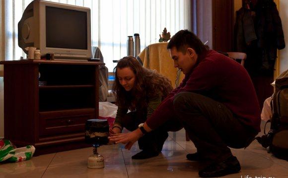 Греем воду в польском мотеле
